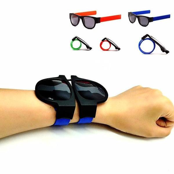 Modular and folding bracelet-sunglasses
