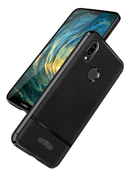 Ultra-thin carbon leather effect case for Huawei