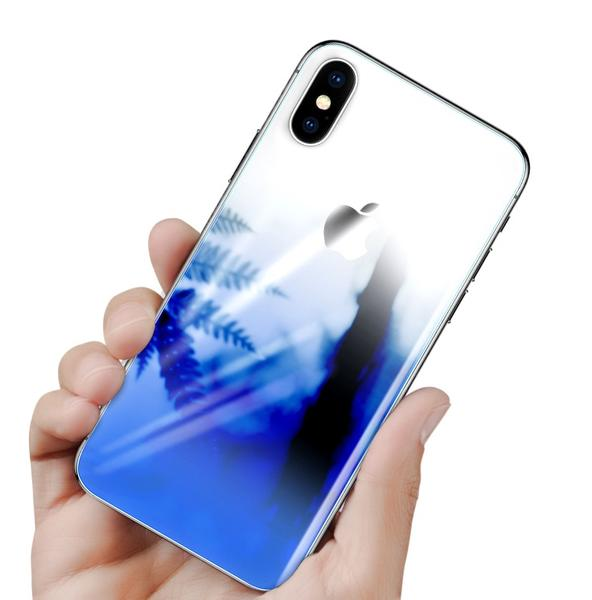 5D Tempered Gradient Back Glass Protection For iPhone X