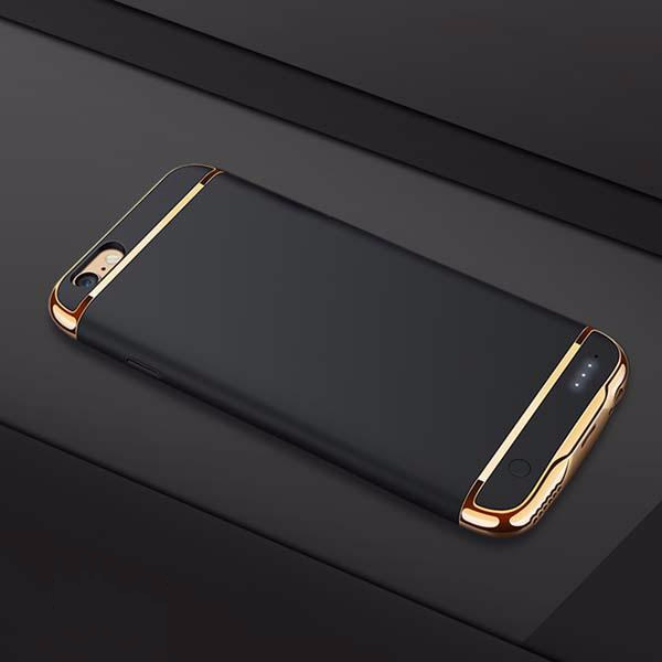 Ultra Slim Battery Case with Golden Inserts for iPhone