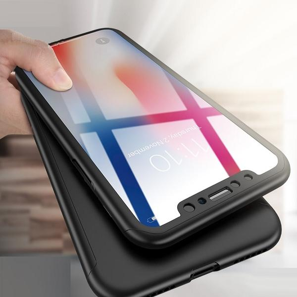 360 total protection case with tempered glass for iPhone