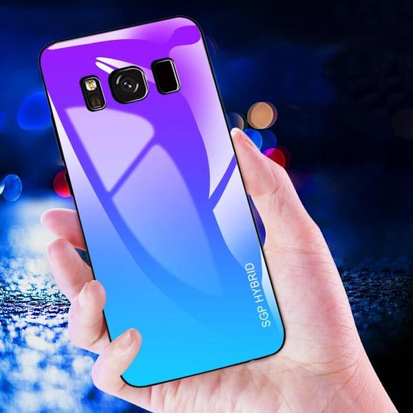 Tempered glass color shades case for Samsung