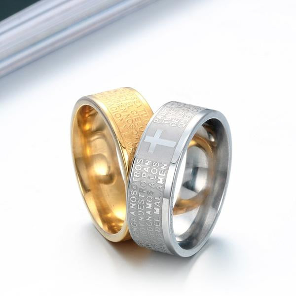 """Our Father"" Prayer Ring"
