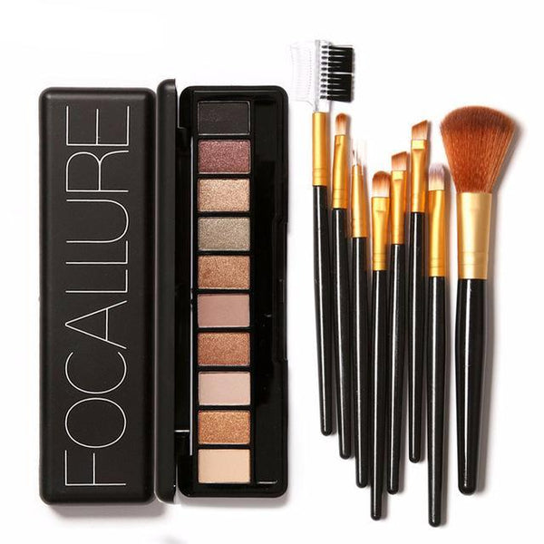 Eyeshadow:  10 colors set + 8 brushes