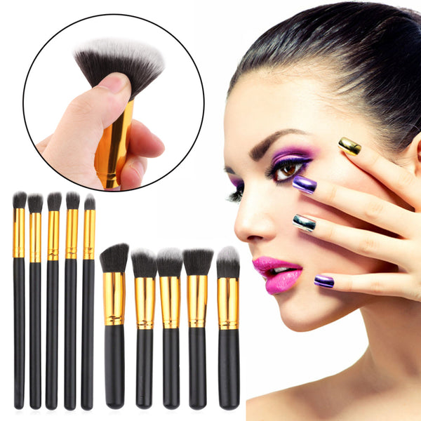 Professional Set of 10 MakeUp Brushes
