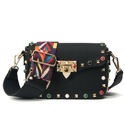 """Rock"" bag with studs"