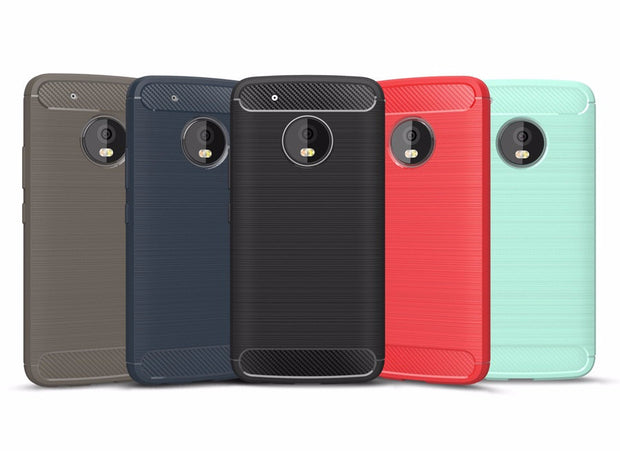 Carbon Fiber Case for Lenovo Moto G5 Plus