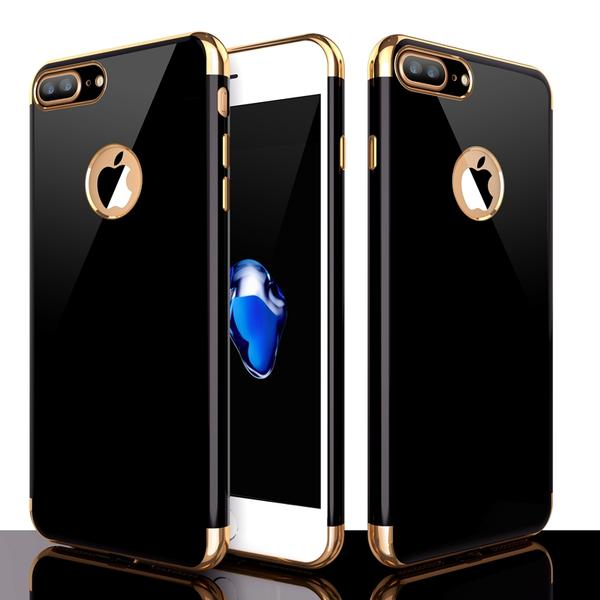 Case With Reflecting Golden Inserts for iPhone