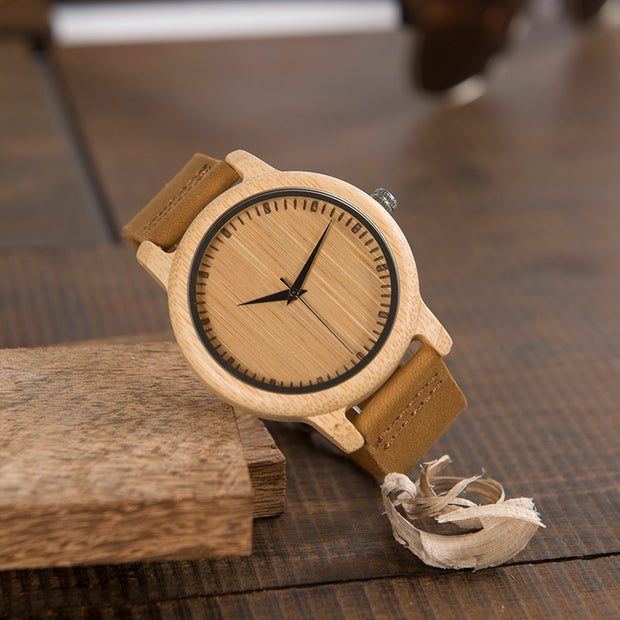 Bamboo wrist watch for men and women