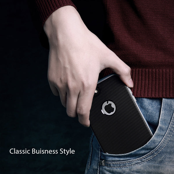 Carbon Fibre Case with Chromium Platings for iPhone