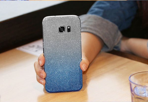 Shockproof glitter case for Huawei