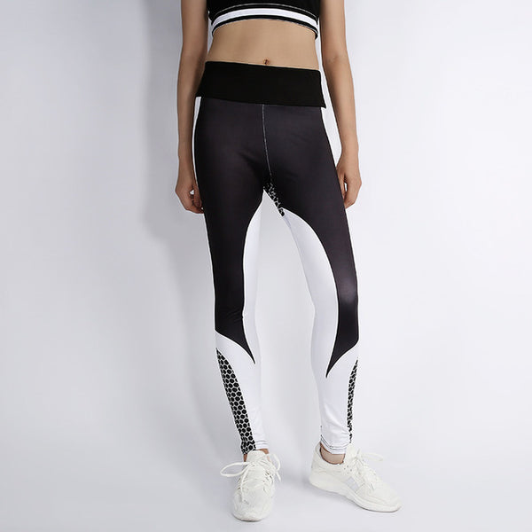 PUSH-UP Leggings with honeycomb texture