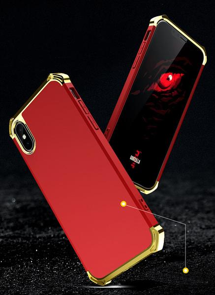 Case With Chromed Reinforced Borders for iPhone 7 / 8 / X