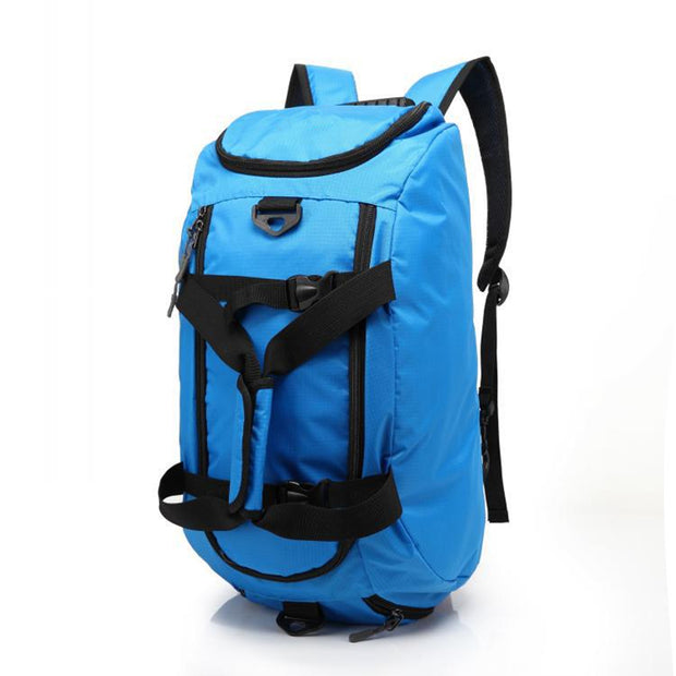 Duffel bag convertible to backpack (for gym/beach)