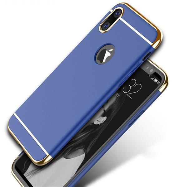 3-in-1 SPACE case with gold inserts for iPhone