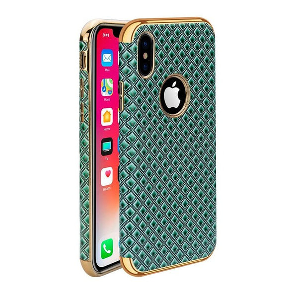 3D Case With Golden Inserts for iPhone X