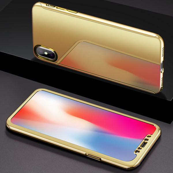 360 Mirrored Laser-Plated Case + Screen Protector for iPhone