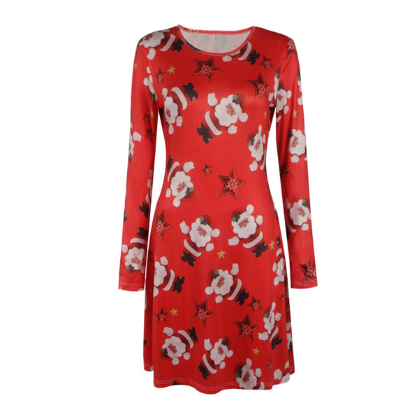 Christmas motif women's dress