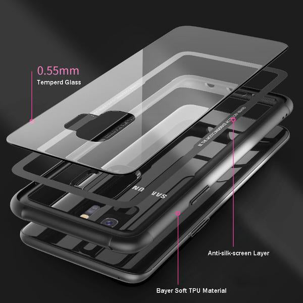 Armor Hybrid case with Tempered Glass for Samsung S9/S9+