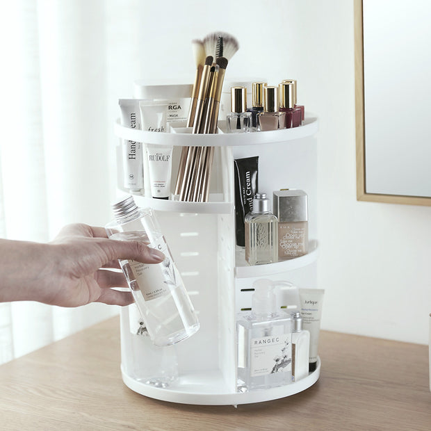 ELLE® Rotating make up box organizer
