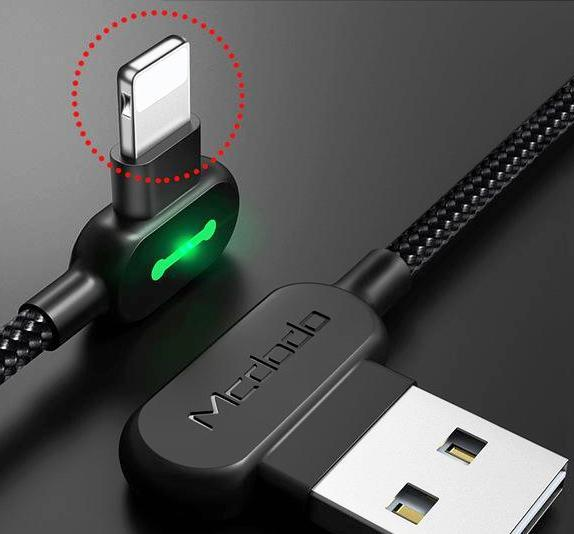 Ultra-resistant LED recharge cable for iPhone