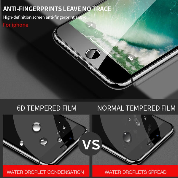 6D TEMPERED GLASS frontal cover for iPhone