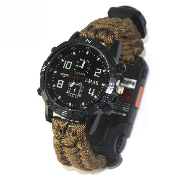 6-in-1 TACTICAL wristwatch - Cordura and Hardlex