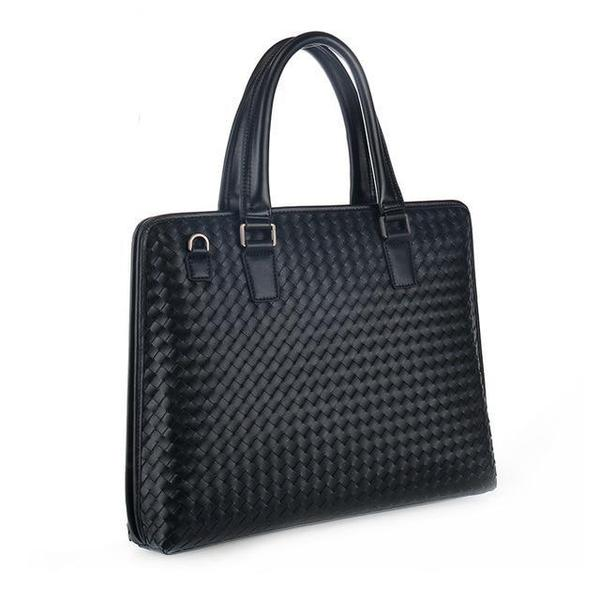 Elegant 24/H bag in interwoven real leather
