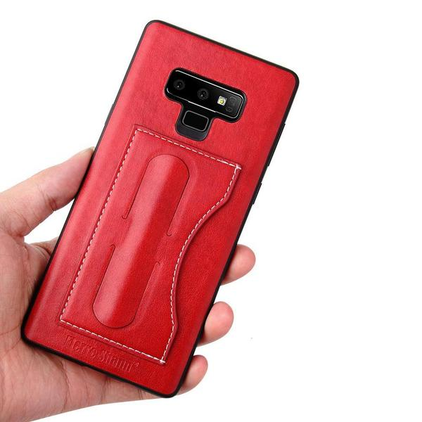 Leather case with card pocket for Samsung
