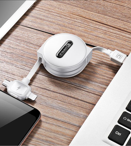 3-in-1 USB UNIVERSAL retractable cable