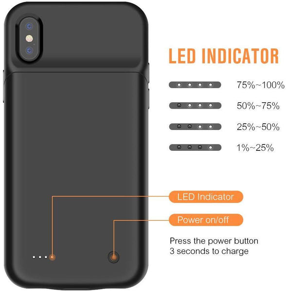 Battery case with car magnet for iPhone