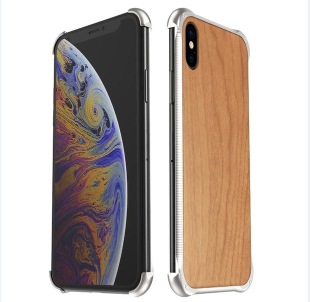 Wooden and metallic WOOD case for iPhone