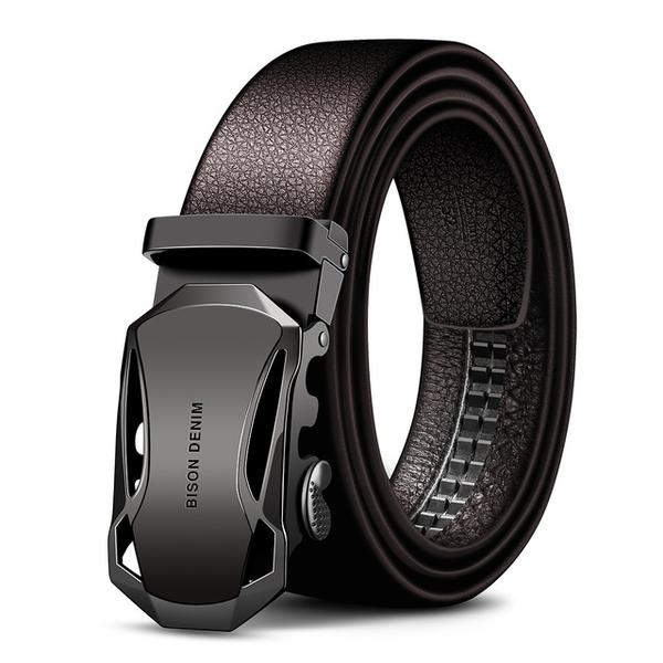 Real leather men's belt with Stealth buckle