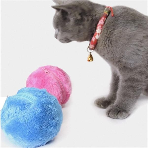Chew® - toy ball with three colorful plush variants - for dogs and cats