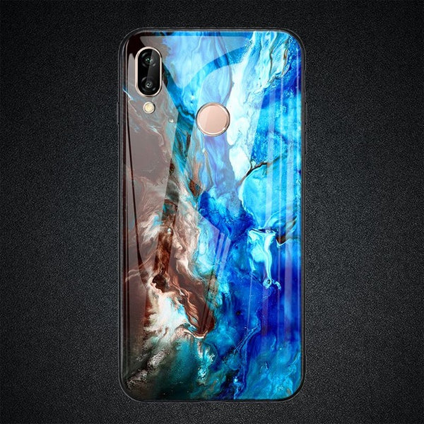 MARBLE tempered glass case for Huawei