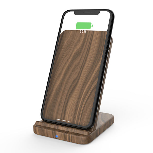 Wengé wood charger for iPhone