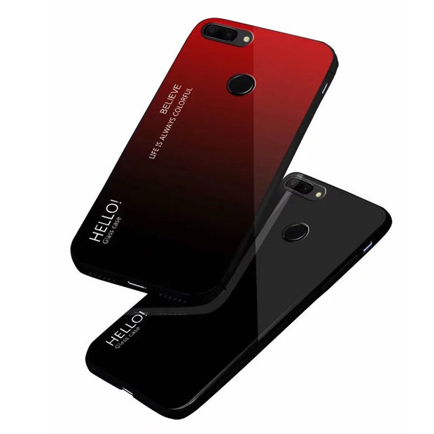 HELLO! - tempered glass case for Huawei