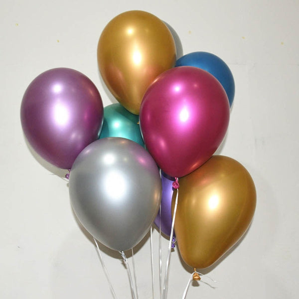 MetalOOns® - 10 metallic latex baloons (FOR ALL YOUR ANNIVERSARIES)