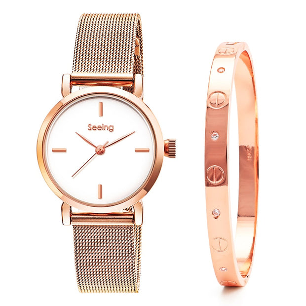 TPW SEEING LOVE® - bracelet and watch set