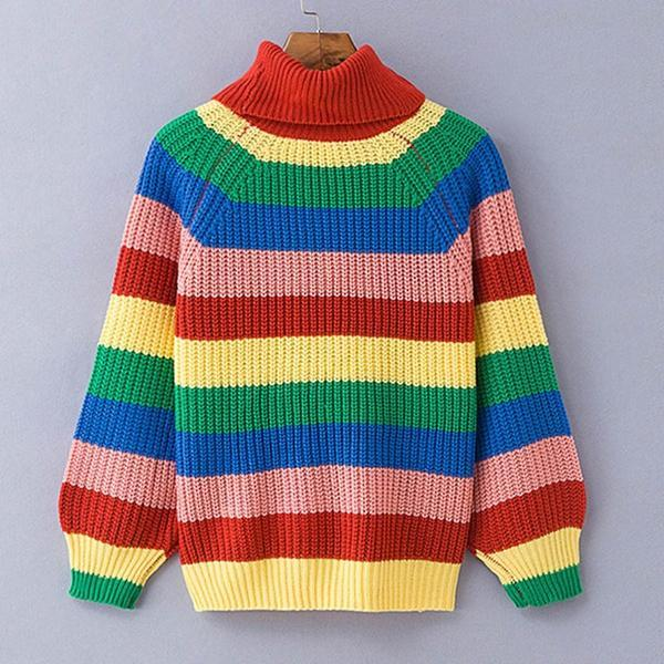 Rainbow® turtleneck pullover