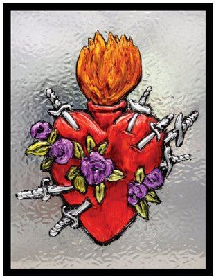 7 Sorrows Sacred Heart Holy Card