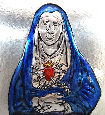 7 Sorrows of Mary Holy Card