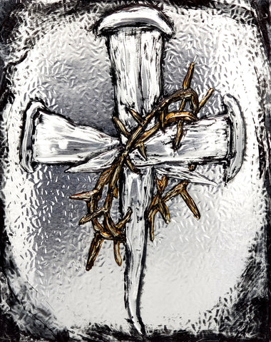 Crown of Thorns & Nails Cross