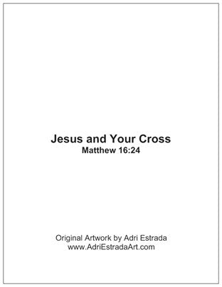 Jesus and Your Cross Holy Card