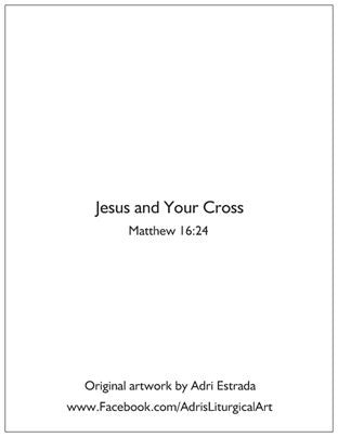 Jesus and Your Cross Note Cards-Singles