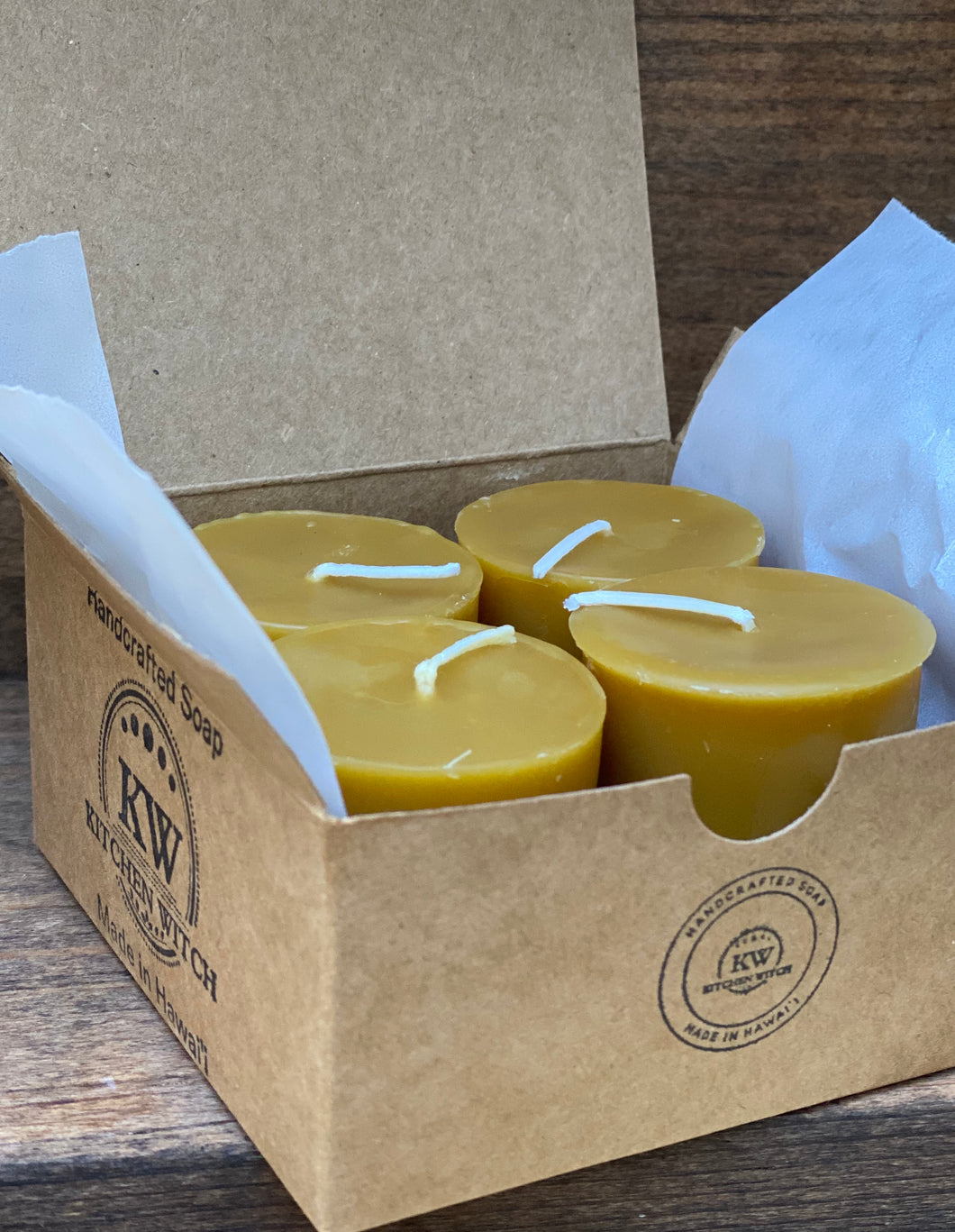 Local Beeswax Votives