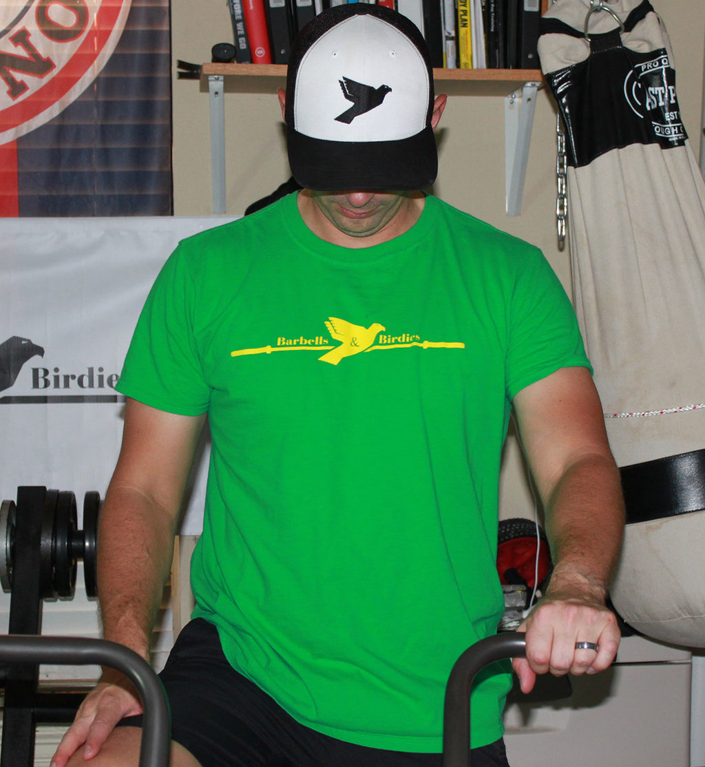 Men's Signature Augusta Green Tee - Barbells & Birdies