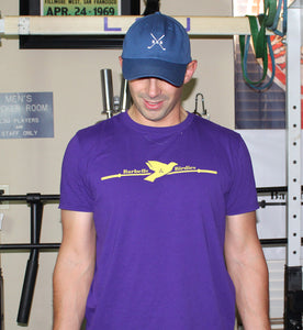 Men's Signature Purple and Gold Tee