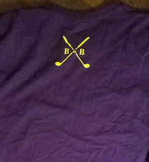 Men's Signature Purple and Gold Tee - Barbells & Birdies