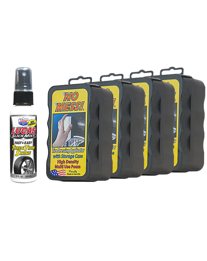 No Mess Tire Dressing Applicator & Lucas Oil Slick Mist